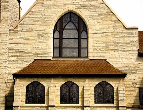 New Protective Coverings & New Sussman Triple Glazed Aluminum Frames: Immanuel Lutheran Church – Kewaunee, WI