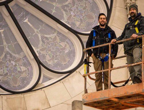 New Protective Coverings & Major Frame Repair: St. Joseph Catholic Church – Joliet, IL